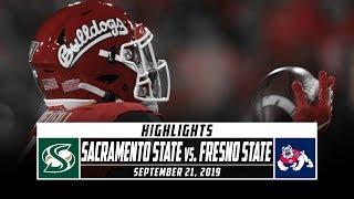 Sacramento State vs. Fresno State Football Highlights (2019) | Stadium