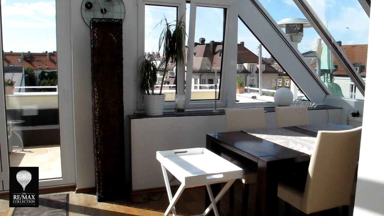 remax lebenstraum immobilien dachterrassenwohnung m nchen youtube. Black Bedroom Furniture Sets. Home Design Ideas