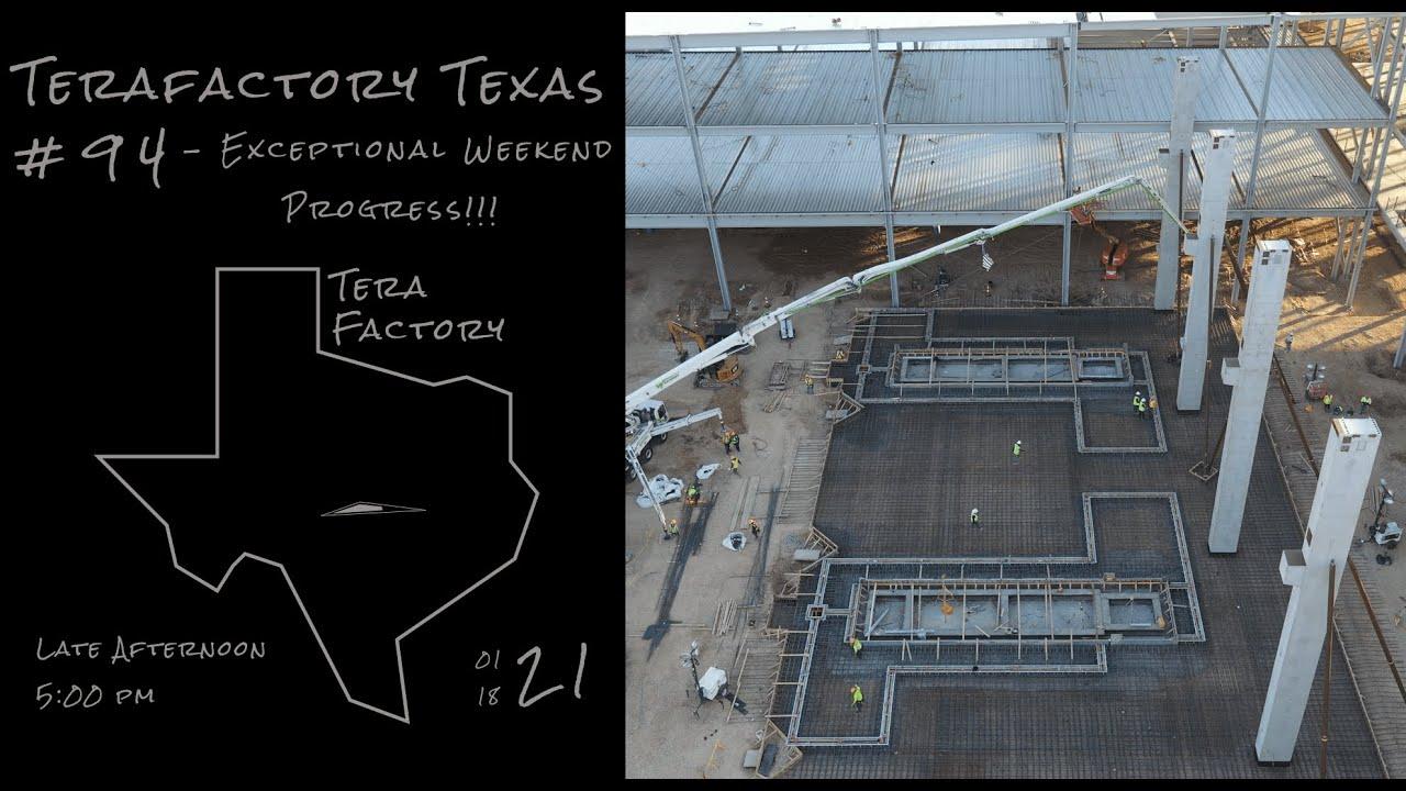 Tesla Terafactory Texas Update #94 in 4K: Exceptional Weekend Progress - 01/18/21 (5:00pm)