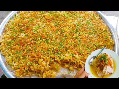 Mâm bánh bột cải mặn của chị gái dễ thương gốc Hoa trên vỉa hè Sài Gòn | street food saigon