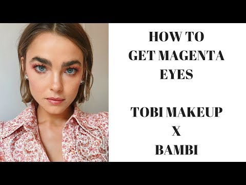 HOW TO GET MAGENTA EYES FEATURING BAMBI