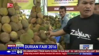 berita 05 maret 2016 beragam jenis durian di durian fair 2016