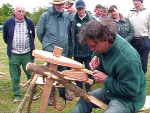Wood carving, 'Fan