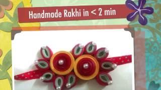Learn Quilling Handmade Rakhi by designpandits