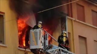 Feu Pompier Gros Incendie Appartement Saint Raphaël VAR 20 Février 2016