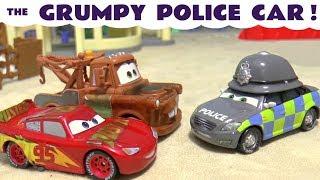 Disney Cars Toys McQueen meets the Cars grumpy Police Car TT4U