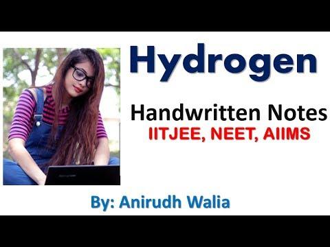Revise Hydrogen || Hydrogen notes || inorganic notes || jee || neet || mains || anirudh walia |aiims