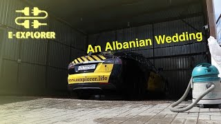 Tesla leading Kosovo-Albanian Wedding Convoy