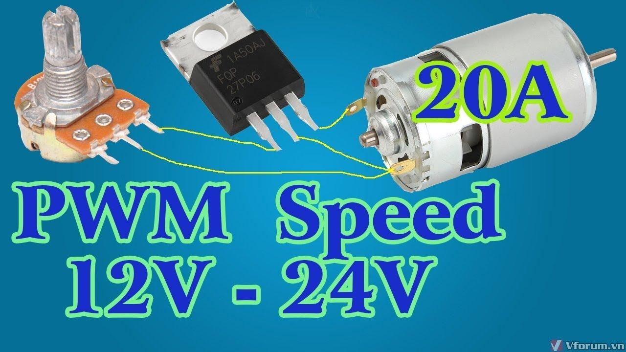 775 motor speed controller PWM 12v 24V 20A   How to make