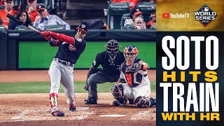 Nationals' Juan Soto HITS TRAIN with HR, Ryan Zimmerman goes deep to tie up World Series Game 1!