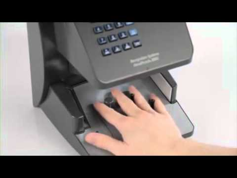 Biometric Time Attendance Terminal Hand Punch Mp4 Youtube