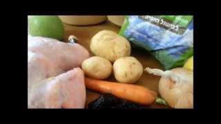 Как приготовить Жаркое по-еврейски из цыплёнка с черносливом