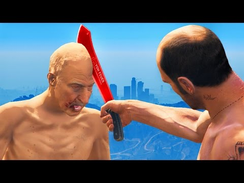 GLOWING 1000 DEGREE KNIFE VS HEAD (GTA 5 Funny Moments #183)