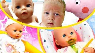 Vidéos du poupon bébé Annabelle pour enfants. Quoi manger, en quoi jouer et où se promener ?