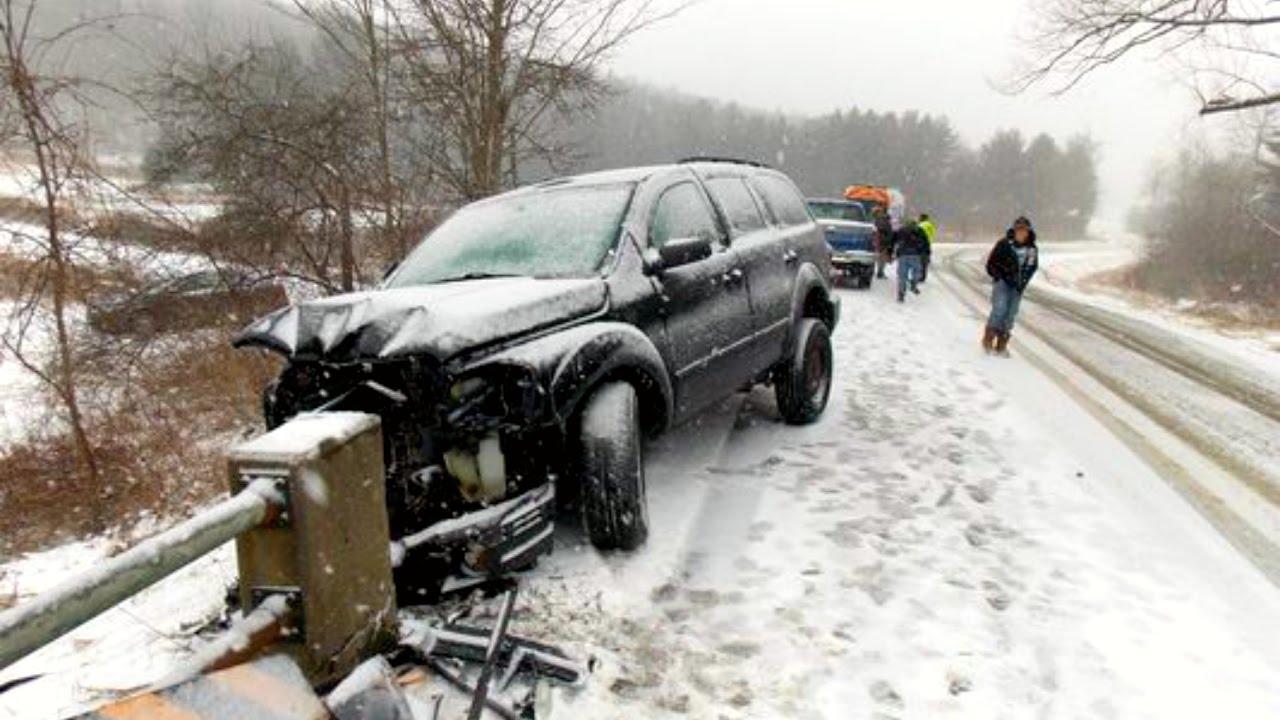 Cars Crashing On Ice Videos