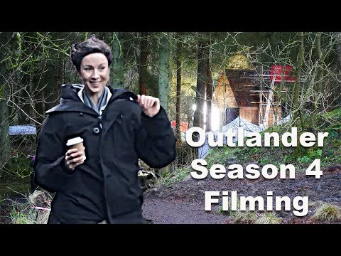 Outlander Season 4 Filming Cumbernauld  Caitriona Balfe Claire Fraser on set! No Spoilers!