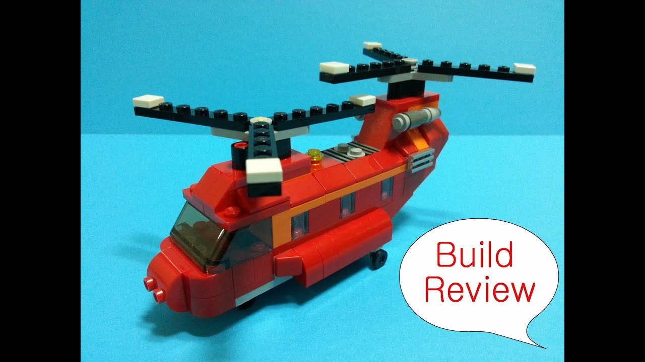 How To Build A Lego Helicopter Instructions