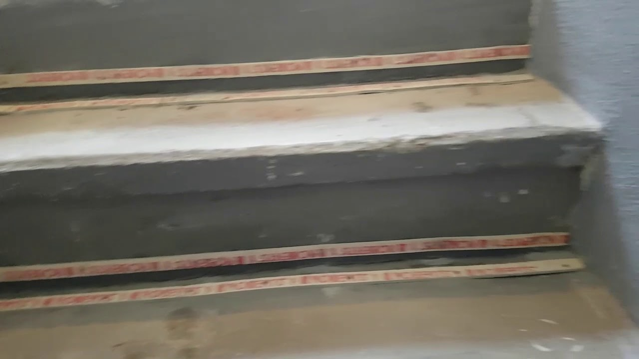 Installing Carpet On Concrete Stairs With Underlay Youtube
