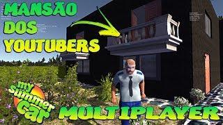 Mudamos para a Mansão dos Youtubers - My Summer Car Multiplayer feat GQ Games