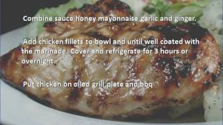 Grilled Chicken Breast With Barbecue Glaze recipe