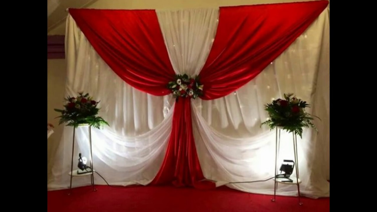 Decoracion de eventos cortinas youtube for Decoracion con plantas para fiestas
