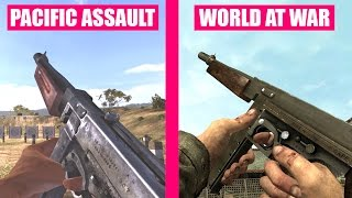 Call of Duty World at War Gun Sounds vs Medal of Honor Pacific Assault