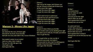 Moves like jagger (karaoke lower key 3 ...