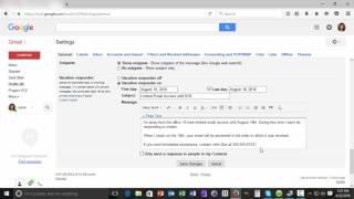 So richten Sie ein Gmail-Ferien-Responder E-Mail-Nachricht