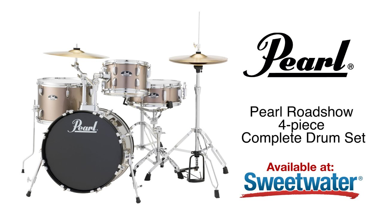 pearl roadshow 4 piece complete drum set review by sweetwater youtube. Black Bedroom Furniture Sets. Home Design Ideas