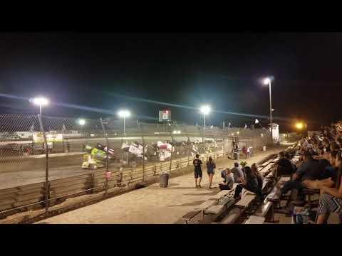 California Speed Week Lemoore Raceway 6/30/18 Super 600 missing man 4 wide for Jason Johnson