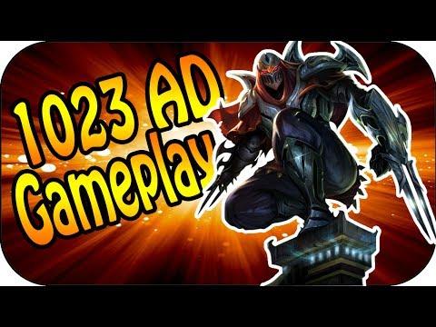 ♥ 1023 AD ♥ Zed Mid Lane Full Gameplay [ger]