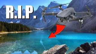 CRASHED OUR DRONE INTO THE LAKE :(