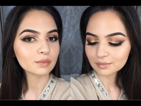 Абитуриентски грим за бежова или златиста рокля | Грим урок | Prom makeup tutorial