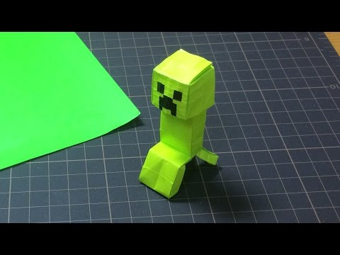 full download minecraft creeper origami
