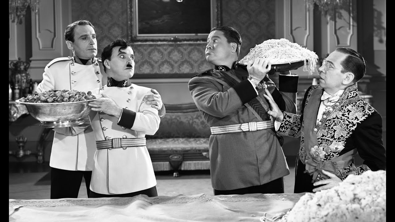 Charlie Chaplin - Food Fight - The Great Dictator