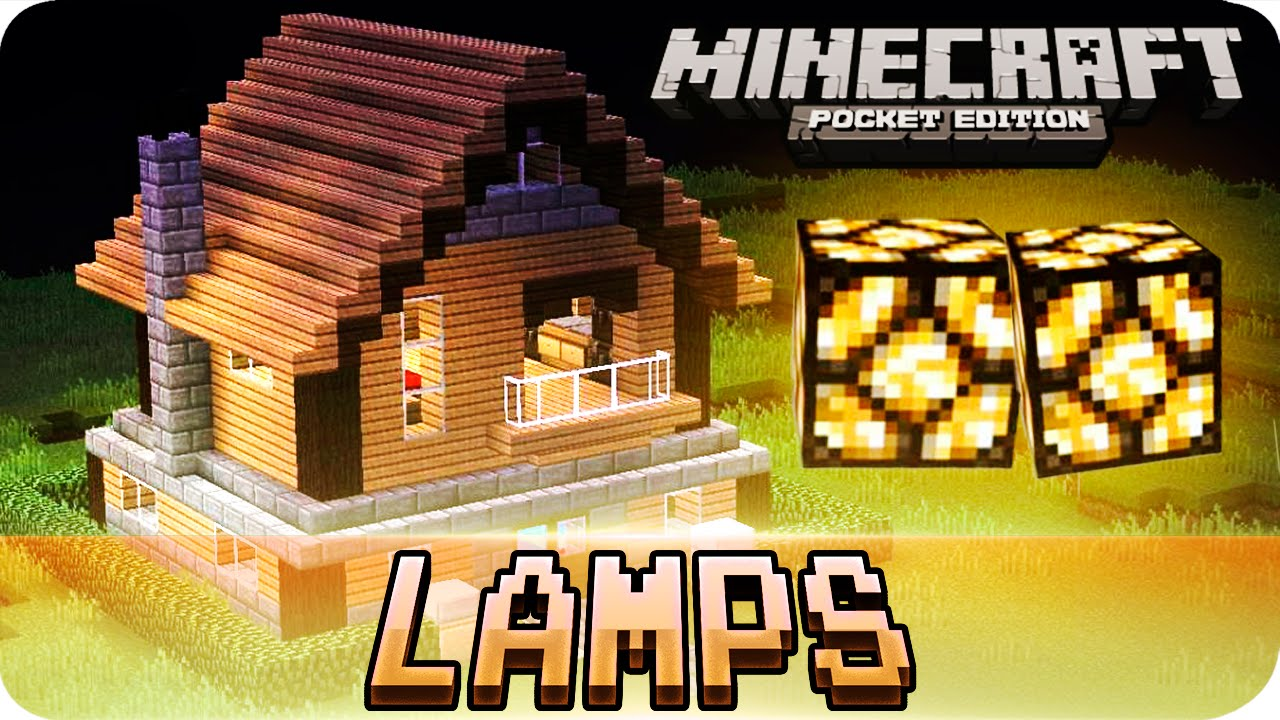 how to make lights in minecraft pe