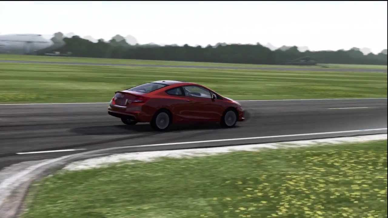 2012 Honda Civic Si Coupe Top Gear Track  YouTube
