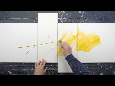 ABSTRACT PAINTING demo with Acrylic Paint | Roda
