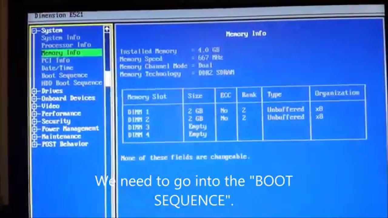 Dell Boot Sequence Problem Solution Youtube