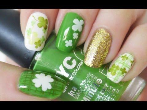 St. Patrick's Day Nail Tutorial (Konad Stamping)