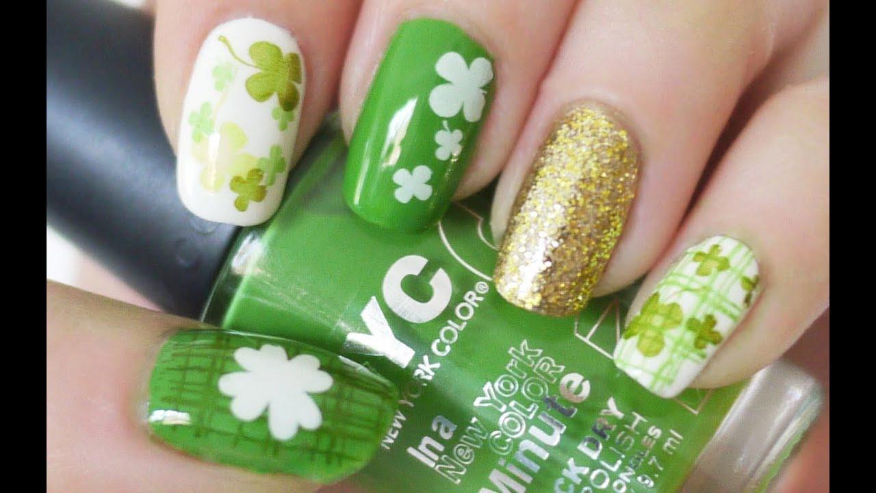 St. Patrick\'s Day Nail Tutorial (Konad Stamping) - YouTube