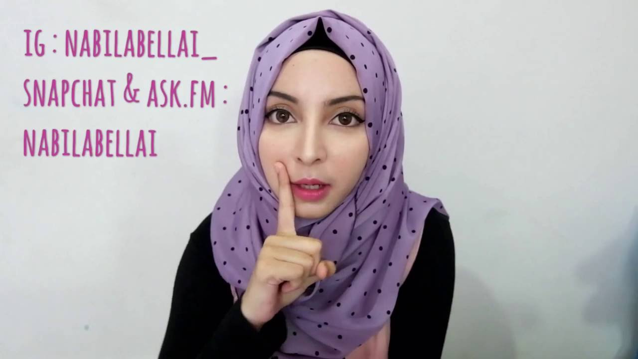 TUTORIAL HIJAB PASHMINA Nabila Bella YouTube