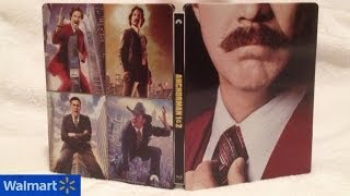 Anchorman 1 & 2 SteelBook Walmart Exclusive Blu-ray Unboxing - (2004/2013) Will Ferrell