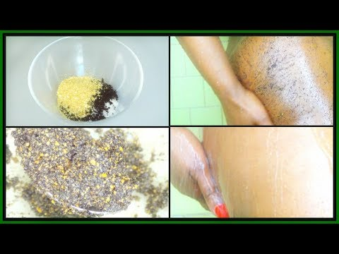 HOW TO SMOOTH YOUR BUTT |  EXFOLIATING BUTT SCRUB WITH SEA SALT AND COFFEE| Khichi Beauty