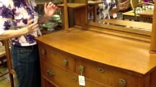 Antique Furniture, Solid Oak Antique Sideboard Buffet, Gannon's Antiques & Art
