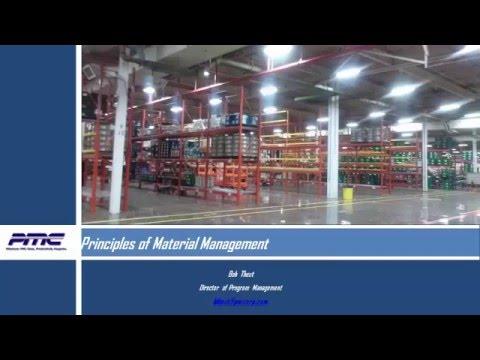 Webinar: Principles of Material Management