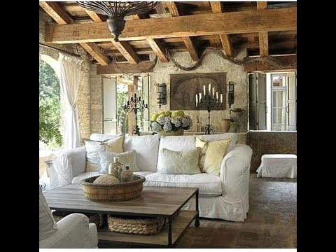 Rustic French Country Living Room Ideas - YouTube
