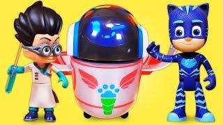 Видео про игрушки из мультфильма Герои в Масках. Несокрушимый робот Ромео!