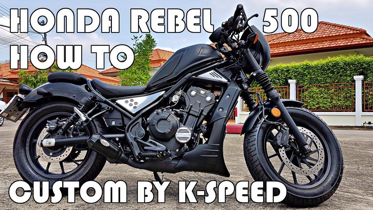 new honda rebel 500 custom by k speed youtube. Black Bedroom Furniture Sets. Home Design Ideas