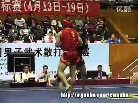 ChCHN11v   finale sanda 60KG Li Xin Jie Henan VS Wu Qiang Shanghai